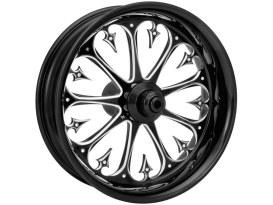 19in. x 2.15in. wide Stiletto Wheel - Black Contrast Cut.