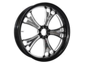 16in. x 5.00in. wide Gasser Wheel - Black Contrast Cut Platinum.