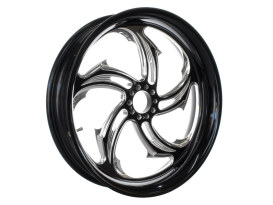 18in. x 4.25in. wide Rival Wheel - Black Contrast Cut Platinum.