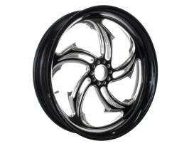 18in. x 5.50in. wide Rival Wheel - Black Contrast Cut Platinum.