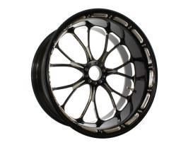 18in. x 8.50in. wide Heathen Wheel - Black Contrast Cut Platinum.