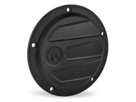 Performance Machine Scallop Derby Cover with Black Ops Finish. Fits Softail 2000-2018, Dyna 1999-2017 & Touring 1999-2015 Models.