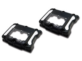 Clarity Rocker Covers - Black Contrast Cut. Fits Twin Cam 1999-2017.
