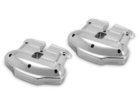 Scallop Rocker Covers - Chrome. Fits Touring 2017up & Softail 2018up.