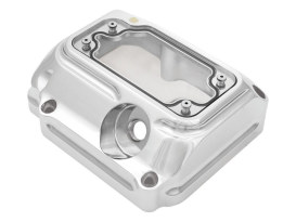 Clarity Transmission Top Cover with Chrome Finish. Fits Twin Cam 2000-2006 with 5 Speed Transmission.