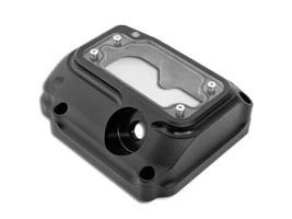 Clarity Transmission Top Cover - Black Ops. Fits 5Spd Twin Cam 2000-2006.
