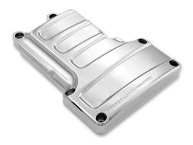 Scallop Transmission Top Cover - Chrome. Fits 6Spd Twin Cam 2006-2017.