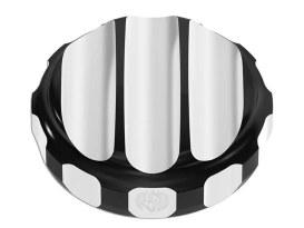 Nostalgia Oil Filler Cap - Black. Fits Dyna 2006up & Touring 2007-2011.