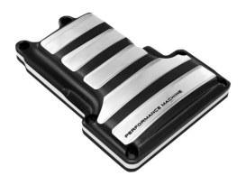 Drive Transmission Top Cover - Black Contrast Cut Platinum. Fits 6Spd Twin Cam 2006-2017.