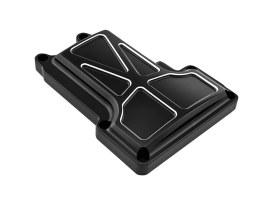 Formula Transmission Top Cover - Black Contrast Cut. Fits 6Spd Twin Cam 2006-2017.