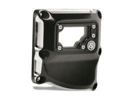 Clarity Transmission Top Cover - Black Contrast Cut. Fits Touring 2017up & Softail 2018up.