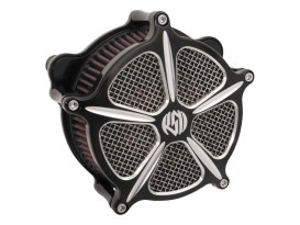 Speed 5 Air Cleaner Kit - Black Contrast Cut. Fits Twin Cam 2008-2017 with Throttle-by-Wire.