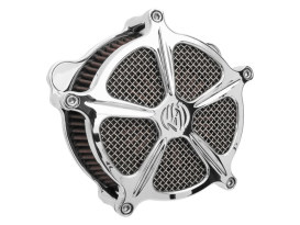 Speed 5 Air Cleaner Kit - Chrome. Fits Twin Cam 2008-2017 with Throttle-by-Wire.