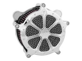 Speed 7 Air Cleaner Kit - Chrome. Fits Twin Cam 2008-2017 with Throttle-by-Wire.