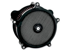 Performance Machine Super Gas Air Cleaner Kit with Black Finish. Fits Sportster 1991up.