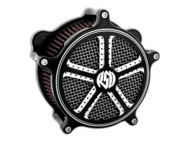 Roland Sands Design Mission Air Cleaner Kit with Black Contrast Cut Finish. Fits Big Twin 1993up with CV Carburettor & Big Twin 2002up with Delphi EFI.