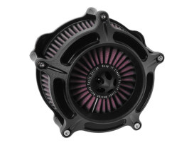 RSD Turbine Air Filter Assembly with Black Ops Finish. Fits Twin Cam 2008-2017 with Throttle-by-Wire & Twin Cam 2006-2017 with Screaming Eagle 58mm Throttle Body Upgrade.