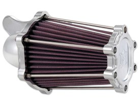 Fast Air Air Filter Assembly with Chrome Finish. Fits Big Twin 1993up with CV Carburettor & Big Twin 2002up with Delphi EFI.