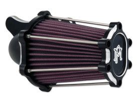 Fast Air, Air Filter Assembly with Contrast Cut Black Finish. Fits Twin Cam 2008-2017 with Throttle-by-Wire & Twin Cam 2006-2017 with Screaming Eagle 58mm Throttle Body Upgrade.