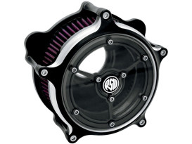 Roland Sands Design Clarity Air Cleaner Kit with Black Contrast Cut Finish. Fits Big Twin 1993up with CV Carburettor & Big Twin 2002up with Delphi EFI.