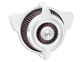 Power Blunt Air Cleaner Kit - Chrome.  Fits Big Twins 1993-2017 with CV Carb or Cable Operated Delphi EFI.