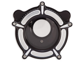 Clarion Air Cleaner Kit - Black Contrast Cut. Fits Big Twins 1993-2017 with CV Carb or Cable Operated Delphi EFI.