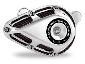 Performance Machine Jet Air Cleaner Kit with Chrome Finish. Fits Touring 2017up & Softail 2018up Models.