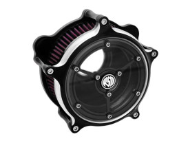 Roland Sands Design Clarity Air Cleaner Kit with Black Contrast Cut Finish. Fits Touring 2017up & Softail 2018up Models.