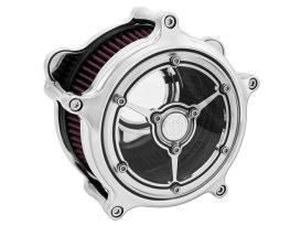 Roland Sands Design Clarity Air Cleaner Kit with Chrome Finish. Fits Touring 2017up & Softail 2018up Models.
