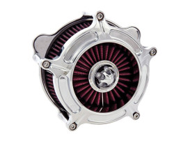 Roland Sands Design Turbine Air Cleaner Kit with Chrome Finish. Fits Touring 2017up & Softail 2018up Models.