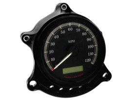 Gauge & Headlight Relocator - Black Anodized. Fits Sportster 1995up.