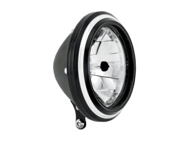 5-3/4in. Merc Headlight - Black Contrast Cut.