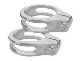 Fork Turn Signal Clamps - Chrome. Fits 41mm Forks.