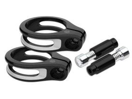 Fork Turn Signal Clamps - Black Contrast Cut. Fits 49mm Forks.