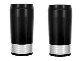 Merc Slider Covers with Black Contrast Cut Finish. Fits Touring 1984-2013.