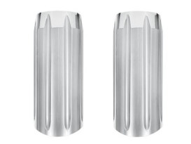 Slash Slider Covers - Chrome. Fits Touring 1984-2013.