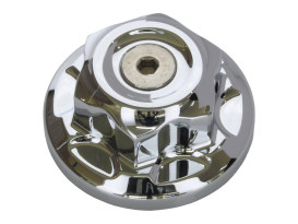 Steering Stem Nut - Chrome. Fits FX Softail 1993up, Dyna Wide Glide 1993up, Dyna 2006up & FXWG 1980up.
