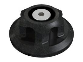 Steering Stem Nut - Black Ops. Fits FX Softail 1993up, Dyna Wide Glide 1993up, Dyna 2006up & FXWG 1980up.