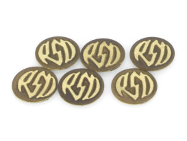 RSD Logo Badges with Brass Finish.