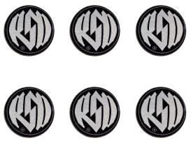 Roland Sands Design Logo Badges with Contrast Cut Finish.