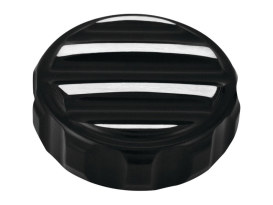 Nostalgia Rear Master Cylinder Cap with Black Finish. Fits Sportster 2004-2013.