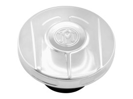 Scallop Fuel Cap - Chrome. Fits H-D 1996up.
