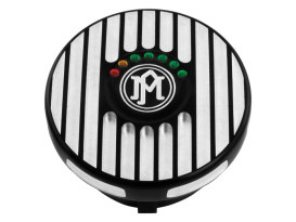 Performance Machine Grill Fuel Gauge with Black Contrast Cut Finish.