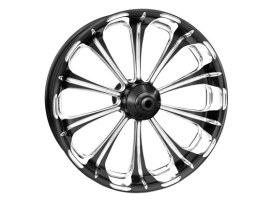 18in. x 8-1/2in. wide Revel Wheel with Rear Hub - Black Contrast Cut Platinum. Fits Breakout 2013-2017 & Rocker 2011 Models with ABS.