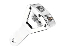 Rear Driveside 4 Piston Caliper & Mounting Bracket with Chrome Finish. Fits Custom with 1