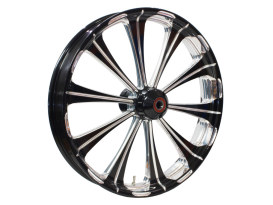 21in. x 3.50in. wide Revel Wheel with Front Hub - Black Contrast Cut Platinum. Fits Breakout 2013up with ABS.