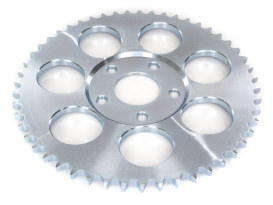 51 Teeth, 6mm Offset Rear Chain Sprocket - Silver Zinc.  Fits Big Twin 1973-1986 with 4 Speed Transmission & Sportster 1979-1981.