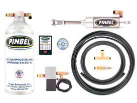 Universal Premium Electric Over Air Shift Kit Including Adjustable Electronic Kill Module and DOT Air Bottle