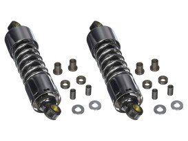 412 Series, 11in. Standard Spring Rate Rear Shock Absorbers - Chrome.  Fits Touring 1980-2005, Sportster 1979-2003 & FXR 1982-1994.