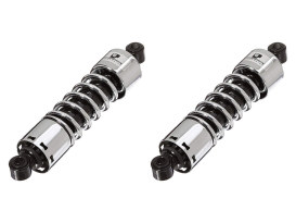 412 Series, 12in. Standard Spring Rate Rear Shock Absorbers - Chrome. Fits Dyna 1991-2017.